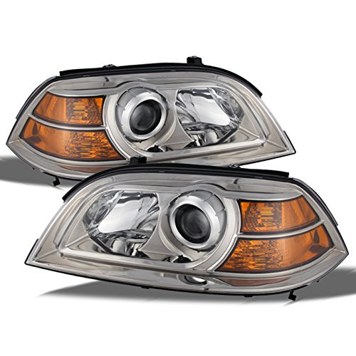 Acura MDX Direct Replacement Chrome Bezel Headlights Driver/Passenger Head Lamps Pair New