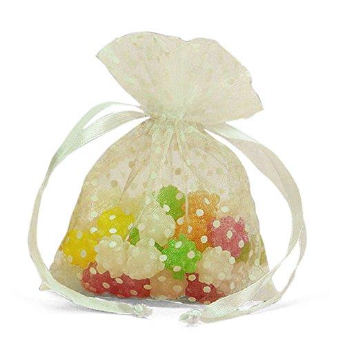 White Polka Dots Organza Bags 3