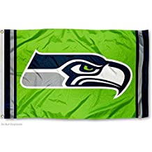 Seattle Seahawks Green Flag and Banner