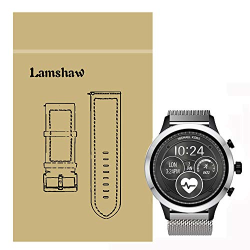 Lamshaw Band for Michael Kors Access Runway, Quick Release Milanese Metal Stainless Steel Mesh Replacement Strap for MK Access Runway Smartwatch (Silver)