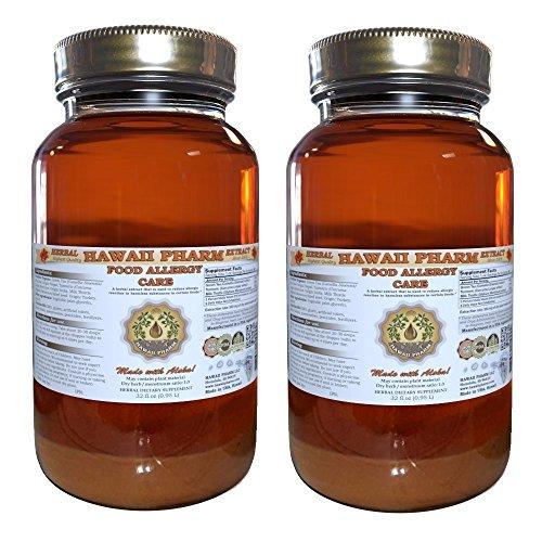 Food Allergy Care Tincture, Green Tea (Camellia Sinensis) Leaf, Turmeric (Curcuma Longa) Root, Milk Thistle (Silybum Marianum) Seed Liquid Extract 2x32 oz by HawaiiPharm