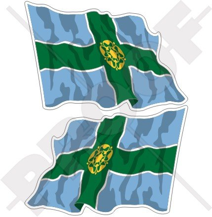 DERBYSHIRE County Waving Flag Derby England Britain UK 4,7