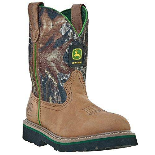 John Deere 2188 Western Boot (Toddler/Little Kid),Tan/Camouflage,12.5 M US Little - Camouflage Tan