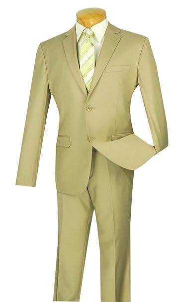 Amazon.com: Vinci Men s Ultra Slim Fit 2 botón de una ...