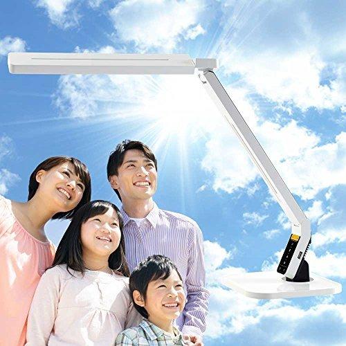 自然光 LEDデスクライト PRO(ホワイト) LEDデスクスタンド W B00B7C1TJG