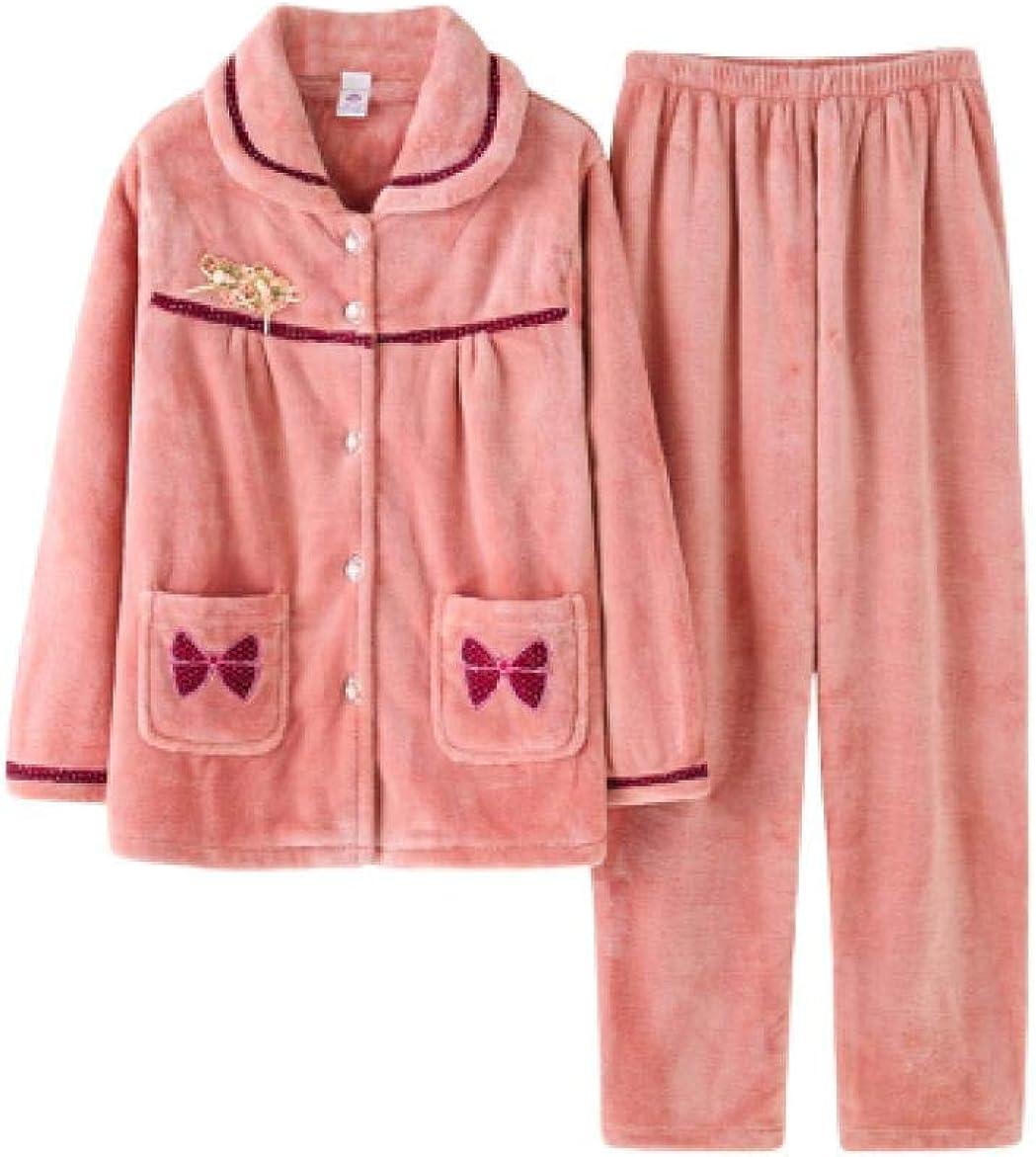 Damen Koralle Fleece Pyjama Hosen Nachtwäsche Hose Warm Weich Winter