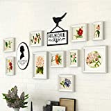 Home@Wall photo frame Photo Gallery Frame Set Of Wall With Usable Artwork And Family, Set Of 10 ( Color : A )