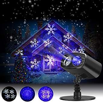 Luces de proyector navidad led nieve luz de proyecci n - Decoracion navidena amazon ...