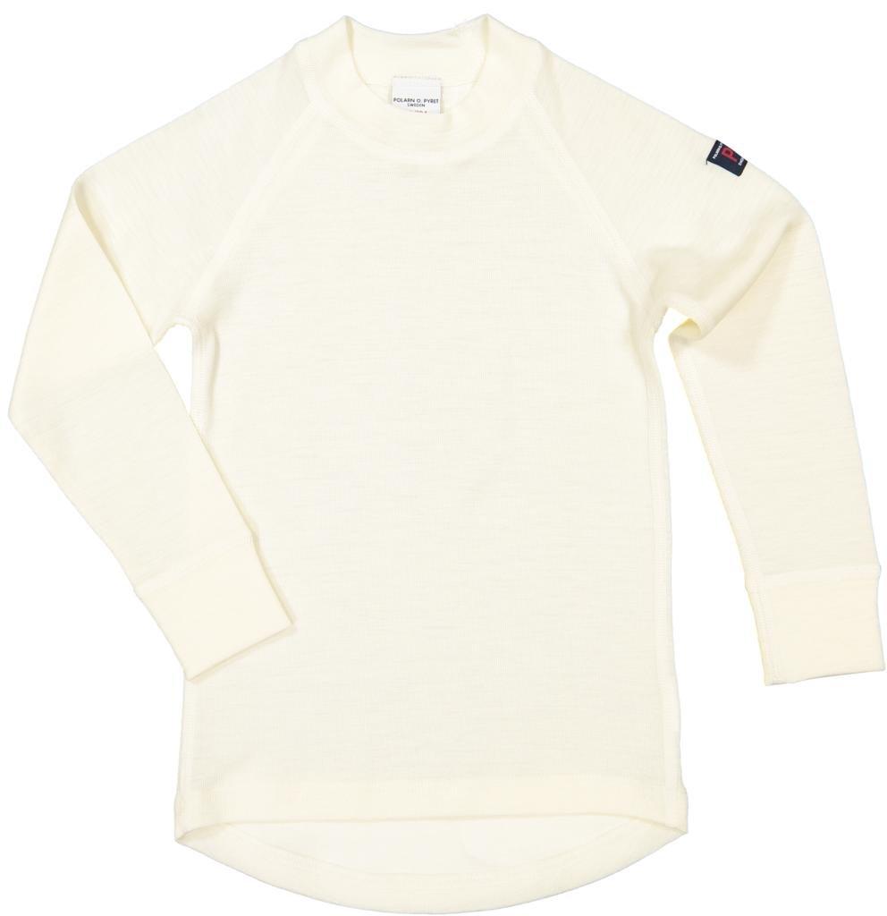 Polarn O. Pyret Winter White Merino TOP (2-6YRS) - Egret/4-6 Years