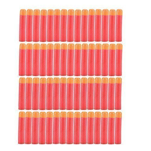 Yosoo 60 PCS Refillable Mega Sponge Round Head Soft Bullets Refill Darts Foam Darts for Elite Nerf N-strike Mega Centurion Sniper Blaster Kid Toy Gun, Red by Yosoo