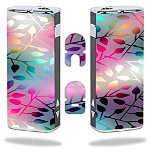 Eleaf iStick Vape E-Cig Mod Box Vinyl DECAL STICKER Skin Wrap / > > > Decal Sticker < < < Neon Colorful Leaves Design Print Image