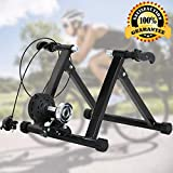 Bike Trainer Stand Bicycle Trainer Stand Bike Exercise Stand Indoor&Outdoor Road&Mountain Bike Trainer Stand for 26-28″ Or 700c Wheel Magnetic Bike Trainer with 5 Levels Resistance For Sale