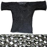 European Flat Ring Rivet Chain Mail Hauberk Black