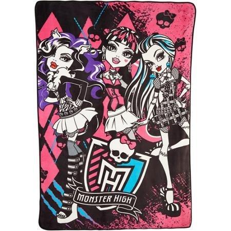 Mattel Monster High Best Beasties Micro Raschel Blanket, 62