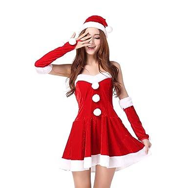 MIAO Traje De Santa Claus Adulto Cosplay Sexy Red Accesorios ...