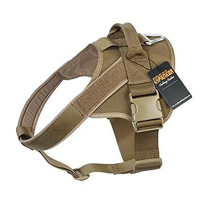 Excellent Elite Spanker Tactical Nylon Adjustable K9 Dog Harness Training Patrol Service Vest for Large/Small Dog