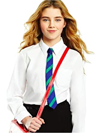19b347c01 ex BHS Girls School Shirt (Twin-Pack) Long Sleeved Non Iron Easy Care