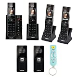 VTech IS7121-2 2 Handset Answering System w/ Audio/Video Doorbell Camera + 2 Additional Handset + Extra Doorbell Camera + Bluetooth Speaker Stick