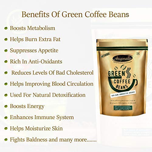 Buy Ariginallo Green Coffee Beans For Weight Loss 350 G Online At