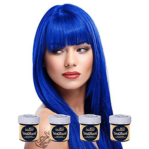 4 x La Riche Directions Semi-Perm Hair Colour Midnight Blue (ALL COLOURS...
