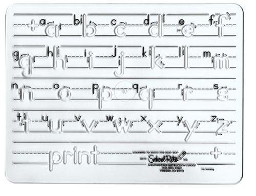 School-Rite Handwriting Templates, Manuscript - Lowercase