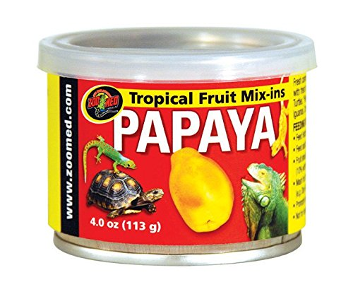 Zoo Med Tropical Fruit Mix-ins Papaya Reptile Food, 3.4-Ounce