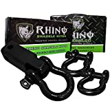Rhino USA COMBO D Ring Shackles & Shackle Hitch Receiver - Shackle For Vehicle Recovery, Hauling, Stump Removal & Much More - Best Offroad Towing Accessory for Jeeps & Trucks!…