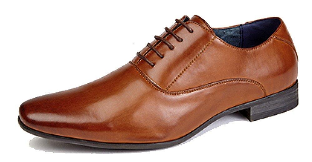 Route 21 Herren mit 5 Ösen Uni Oxford Krawatte Schuhe mit Leder Futter:  Amazon.de: Schuhe & Handtaschen