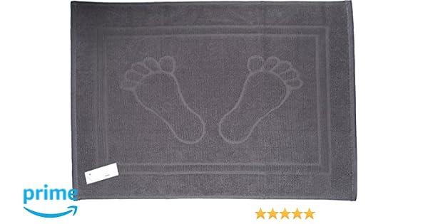 100 /% algod/ón monocroma Blau--f/ü/ße 50 cm x 70 cm 50/x 70/cm alfombra Alfombrilla de ducha alfombrilla de ba/ño 100/% algod/ón ba/ño
