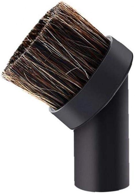 32mm Calibre Universal Del Hogar Aspirador Boquilla Accesorios 1 Paquete De Reemplazo De Vacío Adaptador Universal Ronda Quitar El Polvo Cepillo Suave De Cerdas De Crin Reemplazo Dusty Cepillo: Amazon.es: Amazon.es