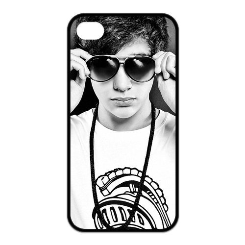 Fayruz- Austin Mahone Protective Hard TPU Rubber Cover Case for iPhone 4 / 4S Phone Cases A-i4K235