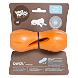 NEW! West Paw Design Zogoflex Qwizl Guaranteed Tough Puzzle Treat Toy for Dogs, Small, Tangerine offers
