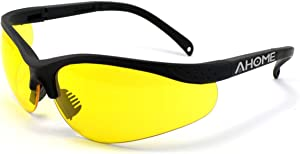 AHOME UV Glasses Gamma Ray Protection Night Vision Improvement Adjustable Safety Goggles