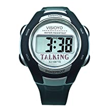 VISIOYO English Talking Watch Digital Sports Watch with Alarm 697TE