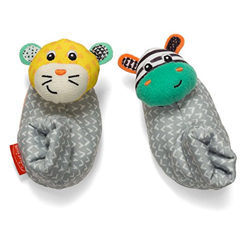 Infantino Foot Rattles, Zebra and Tiger