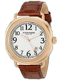 Akribos XXIV Men's AK770RGBR Essential Analog Display Swiss Quartz Brown Watch