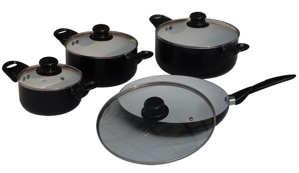 Induktion Keramik Topfset Töpfe Kochtopfset Pfanne: Amazon.de: Küche ...