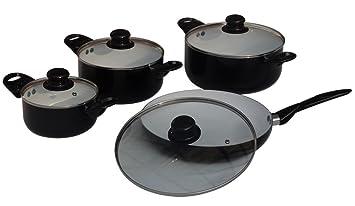 Induktion Keramik Topfset Topfe Kochtopfset Pfanne Amazon De Kuche