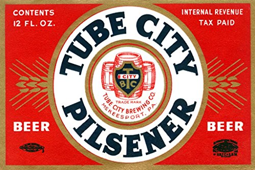ArtParisienne Tube City Pilsener Beer 20x30 Poster Semi-Gloss Heavy Stock Paper Print