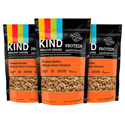 KIND Healthy Grains Granola Clusters, Peanut Butter Whole