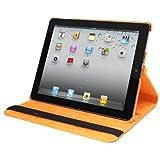 Natico Faux Leather 360-Degree Rotating Case for iPad mini, Orange (60-IM360-OR)