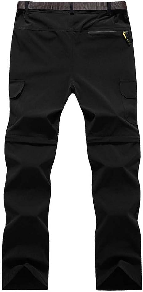 GooDoi Pantalon de Randonn/ée Convertible pour Hommes en Plein air /à S/échage Rapide Pantalon Respirant l/éger R/ésistant /à leau Camping Trekking Montagne
