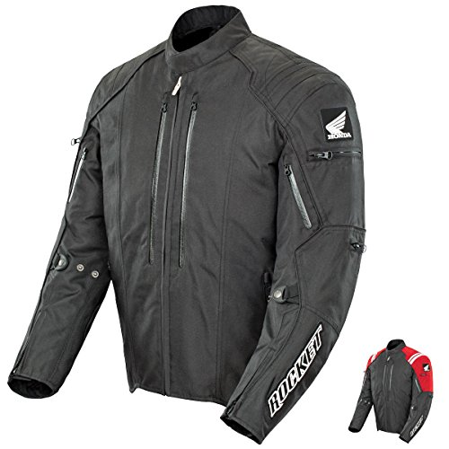 (Joe Rocket Honda Racing CBR Textile Jacket Black/Black Mens LG)