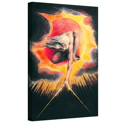 ArtWall William Blake 'The Ancient of Days II ' Gallery-Wrapped Canvas Art, 14 by 18-Inch from ArtWall