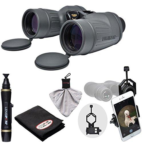 Fujifilm Fujinon Polaris 7x50 FMTR-SX Waterproof/Fogproof Binoculars with Smartphone Adapter + LensPen Cleaning Kit