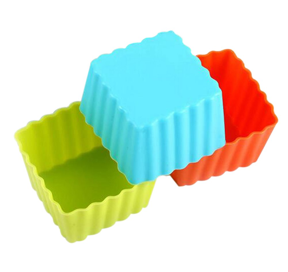 Da.Wa 10pcs Environment Friendly Reusable Non- Stick Food Silicone Baking Cups Muffin Cups Cupcake Pastry Cake Mold