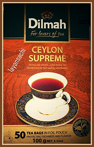 Dilmah Ceylon Supreme Tea Foil wrapped (50 Tea Bags)