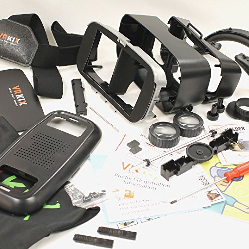 VRBuilder - The DIY Build & Learn Virtual Reality VR Viewer Headset Maker Kit You Build Yourself, works with Smartphones, Compatible with Google Cardboard Apps Includes our FREE app
