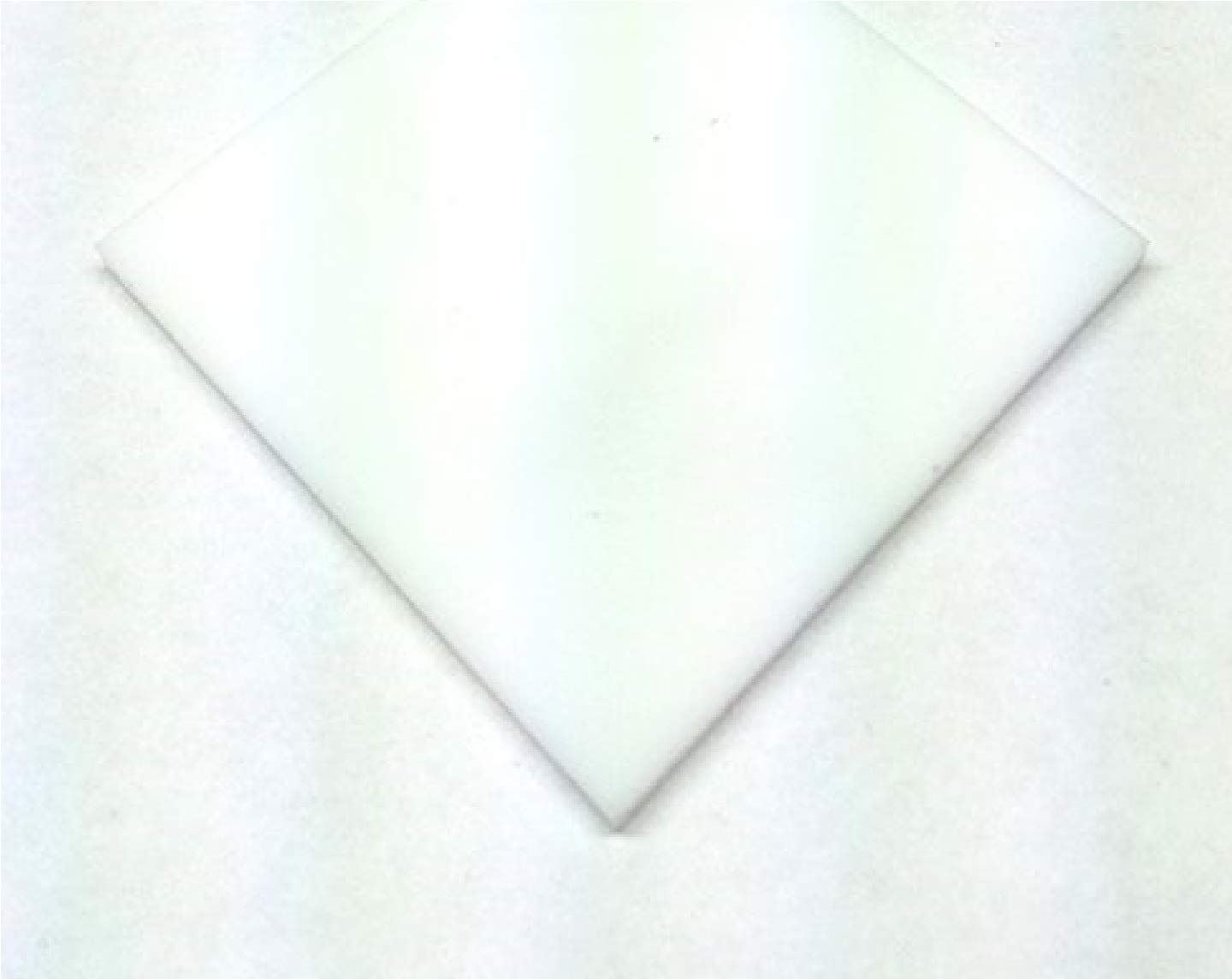 White Cast Acrylic Sheet 12 x 12 Nominal .118 Thick