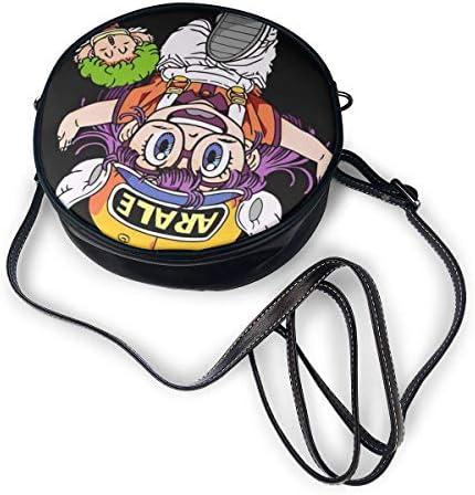 丸型ショルダーバッグ Dr.スランプ PUレザー 小さめ 人気 取り外し可能 軽量 可愛い レディース ミニバッグ クロスボディバッグ
